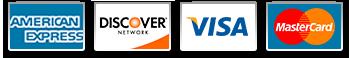 PayPal: Visa, MasterCard, Amex, Discover, Bank